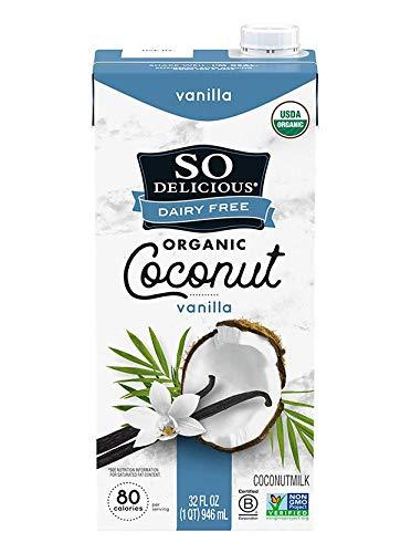 So Delicious Dairy Free Shelf-Stable Coconutmilk, Vanilla, Vegan, Non-GMO Project...