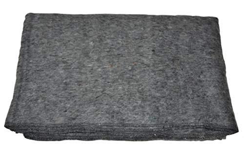 AB Robuste Armee Wolldecke für Camping oder Picknick (200 x 150 cm/Dunkelgrau)