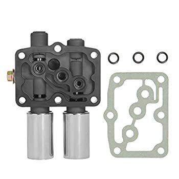 Transmission Dual Linear Solenoid with Gasket O-Rings | Replacement for Honda Accord Odyssey Pilot Prelude Acura CL TL MDX | Replaces# 28250-P6H-024 28250P6H024