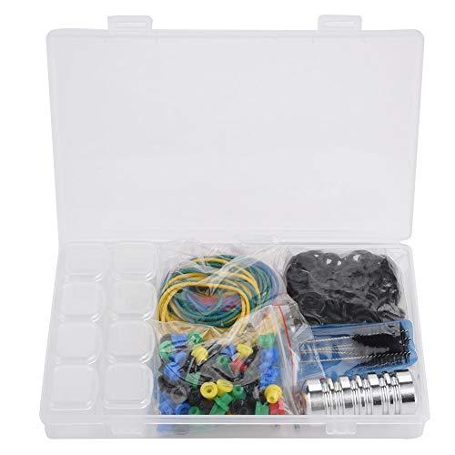 Kit de suministros de tatuaje profesional Bandas de goma Juego de herramientas de cepillo de limpieza para uso en salones de tatuajes (con caja de almacenamiento)