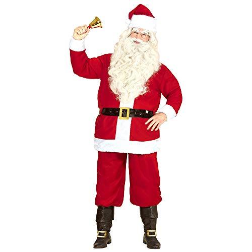 Widmann 14930 – Costume da Babbo Natale, set di giacca, pantaloni, cintura e cappello, colore: rosso/bianco, travestimento per uomo, Natale, San Martino, Carnevale, festa a tema, rosso/bianco