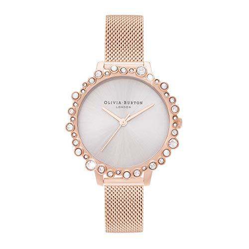 Olivia Burton Damen Analog Japanischer Quarz Uhr mit Edelstahl Armband OB16US50