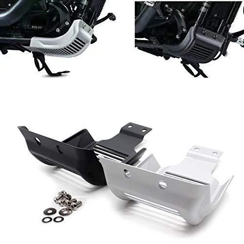 QOHFLD Protector de la Cubierta Protectora del chasis del Motor de la Placa de Deslizamiento de la Motocicleta, para Harley Sportster 883 Roadster XL883R 48 Personalizado XL1200C 2004-2018