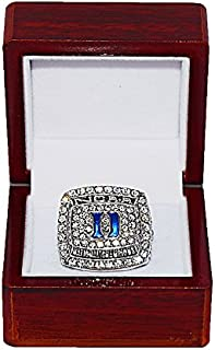 DUKE UNIVERSITY BLUE DEVILS (Coach Mike Krzyzewski) 2015 NCAA NATIONAL CHAMPIONS (Final Four) Rare & Collectible Replica NCAA Basketball Silver Championship Ring with Cherrywood Display Box