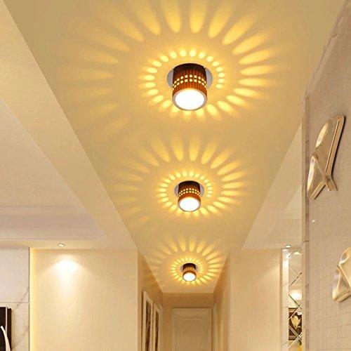 Deckenleuchte LED Wandleuchte Wandlampe Dimmbar Innen Wandlicht Flurlampe Spirale Effekt für Flur Schlafzimmer Balkon Wohnzimmer Badezimmer Treppen Korridor Lampe Deckenstrahler
