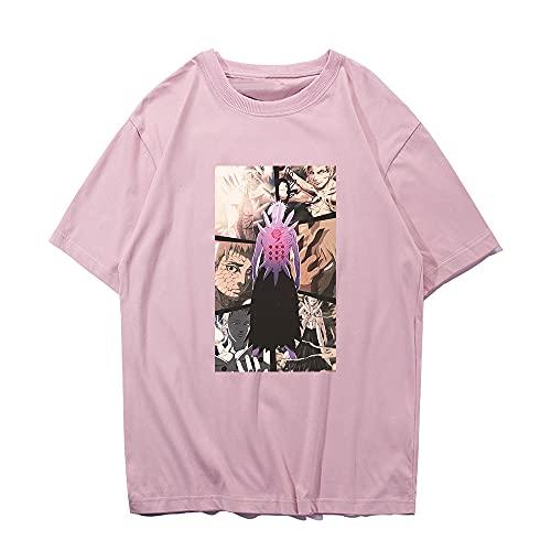 SHIQI-DYMX Naruto Camiseta De Hombre con Estampado Cool Unsixe, Camiseta Negra De Manga Corta, Camisetas De Hip Hop, Ropa De Calle, Camiseta,L