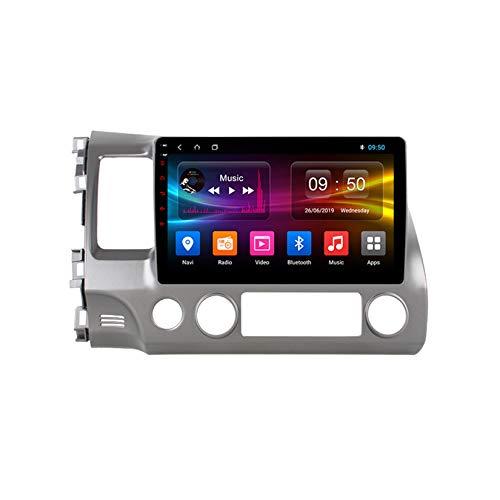 TypeBuilt Android Car Stereo Radio De Coche 9 Pulgadas Unidad Principal Reproductor Multimedia Receptor De Video Carplay para Honda Civic 8 FK FN FD 2005-2012 Autoradio Mit Navi,Px6