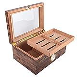 with Humidifier and Lock, Holds 120 Cigars, Travel Cigar Holder, Cigar Humidor Box, for Storing Cigar Cigar Moisturizing