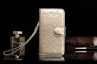 Fashion iPhone 7 Plus iPhone 8 Plus Case, New Elegant Luxury Classic Wallet Style with Lanyard and Card Slot Holder PU Leather iPhone 7 Plus iPhone 8 Plus Case, Gold