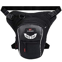 Fansport Leg Bag Motorcycle Men, Multifunctional Leg Bag Waist Pack Bike Motorcycle Thigh Pouch Waterproof for Camping Outdoor Bag