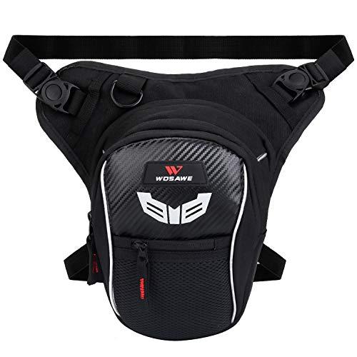 Fansport Beintasche Motorrad Herren, Multifunktionale Beintasche Hüfttasche Fahrrad Motorrad Oberschenkeltasche Wasserdicht für Camping Draussen Tasche
