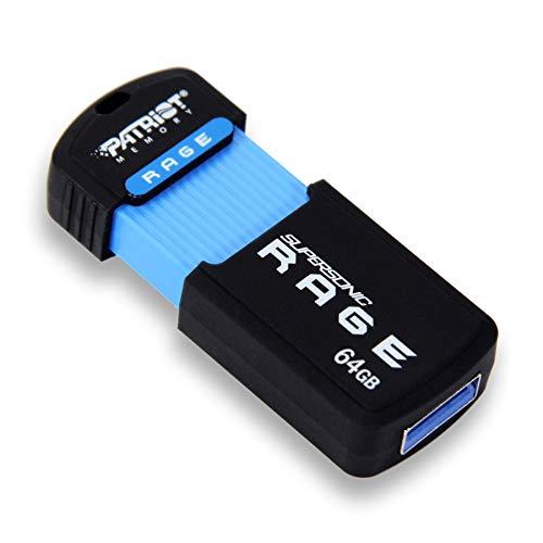 Patriot 64GB Supersonic Rage USB 3.1 Gen 1 Externer Speicherstick Flash Laufwerk High-Speed-von bis zu 180 MB/Sek Read
