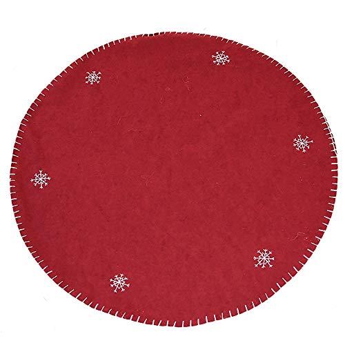 NBWS Weihnachtsbaumdecke Weihnachtsbaum Rock Runde Filz-Baumdecke - Schutz vor Tannennadeln - Tannenbaum-Unterlage mit Weihnachtsmotiv