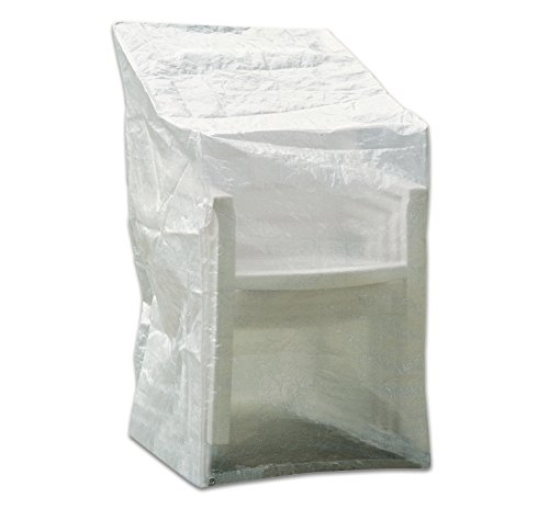 Profiline Schutzhülle aus wasserdichtem und transparentem PE-Bändchengewebe für Stapelstühle, 63 x 66 cm, 117 cm Höhe, 454724