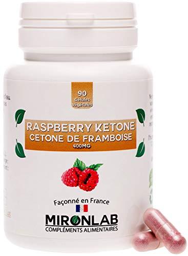 Raspberry ketone Minceur et Brûle Graisse | Cétone de Framboise Hautement Dosée 1200mg | Idéal régime Minceur et Keto | Facilite la Perte de Poids | 90 gélules végétales | Façonné en France Mironlab