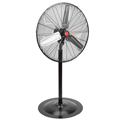 OEMTOOLS OEM24873 30 Inch High-Velocity Non-Oscillating Pedestal Fan, New Model | 7250 CFM of Airflow to Cool Your Shop, Garage, or Workspace | Residential, Commercial, & Industrial Fan