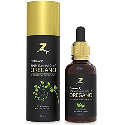 Essential Oil of Oregano from ProfessorZ | 87 Percent Minimum Carvacrol | Large 50ml bottle | Great for fungal nail treatment and as an immune system booster from ProfessorZ