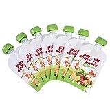 LOVOICE 8 bolsas para suplementos alimenticios para bebé, puré casero, reutilizables, bolsa de transporte para frutas y verduras