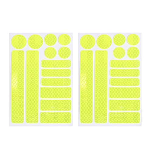 Vosarea 2 Sätze Fahrrad Reflektierende Aufkleber Sticker Streifen Folie Sicherheit...
