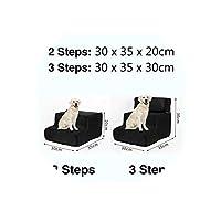 ペットベッド階段ペット階段2/3はしご犬小屋子犬猫用ベッドステップメッシュ折り畳み式取り外し可能ペットベッド猫犬ランプ子犬用品、A、3ステップ
