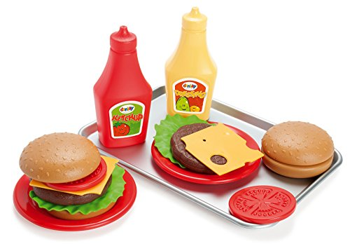 Dantoy 17 TLG Hamburger Set für Spielküche Lebensmittel und Zubehör
