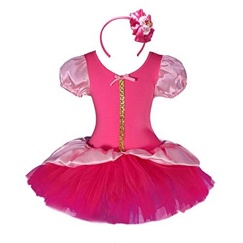 Lito Angels meisjes prinses doornroosjes gekke jurk met hoofdband danskleding balletdeur