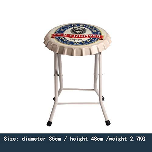 XNLIFE Folding Bar Kruk Retro Style Stapelbare barkruk Bar Keuken Binnen Buiten Bistro Cafe Hoge stoel