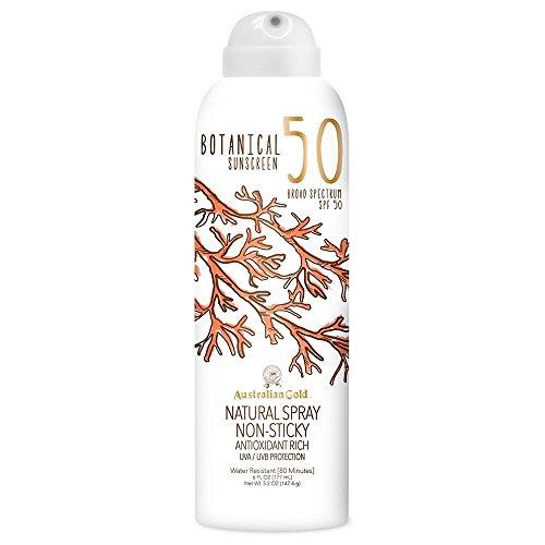 Australian Gold Botanical Sunscreen Natural Spray SPF 50, 6 Ounce | Broad Spectrum | Water Resistant