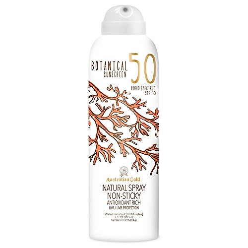 Australian Gold Botanical Sunscreen Natural Spray SPF 50, 6 Ounce | Broad Spectrum | Water Resistant