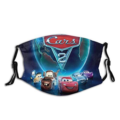 Cars Lightning Mcqueen - Máscara facial con protección solar UV, protección contra el cuello, bufanda mágica para el cuello, protección solar transpirable para deportes y exteriores