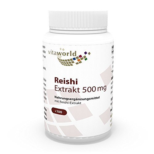 Vita World Reishi extrait 500mg 100 Capsules végétariennes avec certificat d'analyse Made in Germany