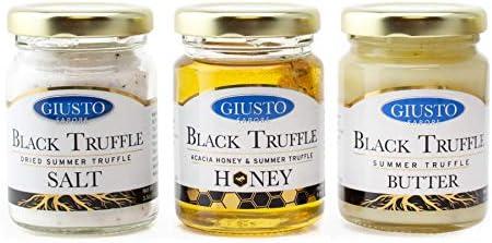 Truffle Trio Sweet and Savory Gourmet Gift Set All Natural Truffle Acacia Honey Truffle Salt product image