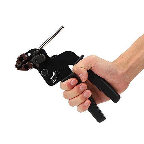Pistola de SujecióN de Cables de Acero Inoxidable, Alicates de SujecióN de Cables de TensióN Ajustable Herramienta de SujecióN de Cables para Bridas Autoblocantes de Acero Inoxidable, Bridas de Escale