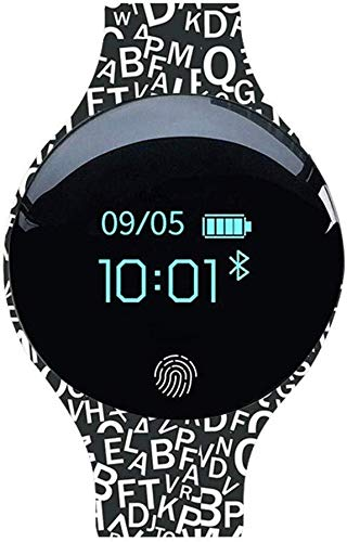FANPING Smart-Armband-Uhr-Smart-Armband-Silikon Bluetooth Kinder Uhr Camouflage Sport-Pedometer-Uhr-Paar-Geschenk (Color : Letter World)
