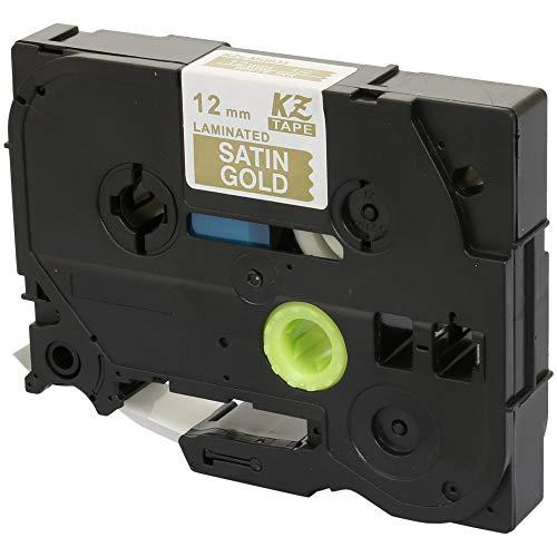 TZe-MQ835 12mm x 5m Nero su Oro Satinato Nastro laminato compatibile per Brother P-Touch PT-1000 D200 D210/VP D400/VP D450/VP D600/VP E100/VP E300/VP E550/W/WVP H100 H101 H105 H110 H200 H300 P700 P750