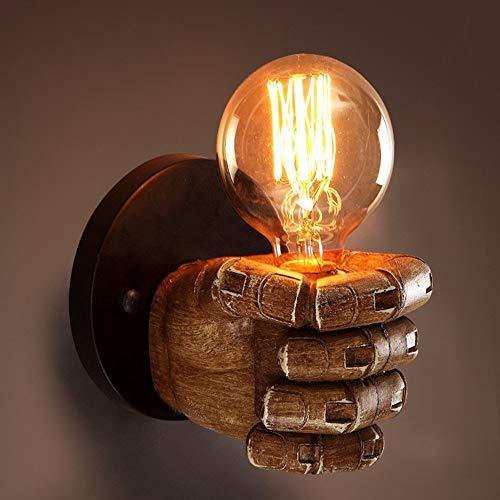 Retro Industrie Design Wandlampe im Loft-Style Esszimmer Vintage Retro Wohnzimmer Mode Kreative Persönlichkeit Harz Hand Form Wandleuchten, (Rechte hand)