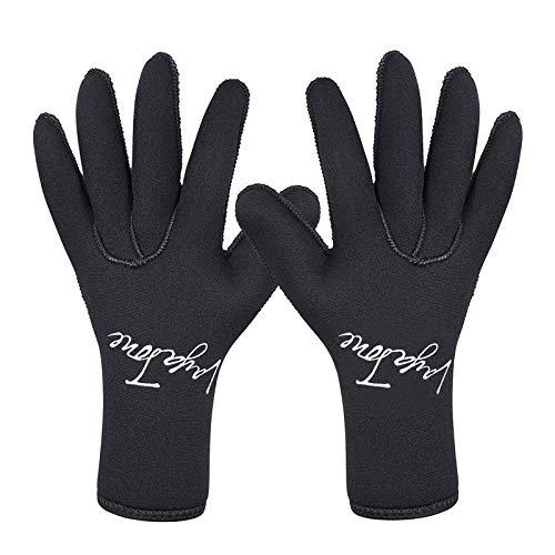 HKYMBM 5mm Neopren Neoprenanzug Handschuhe, Warme Tauchhandschuhe Taucherhandschuhe, Erwachsene FüNf Finger Tauchhandschuhe Zum Tauchen, Surfen, Kajakfahren, Schnorcheln,XL