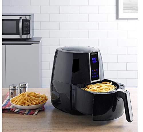 3.2-quart digital oil-less fryer, black