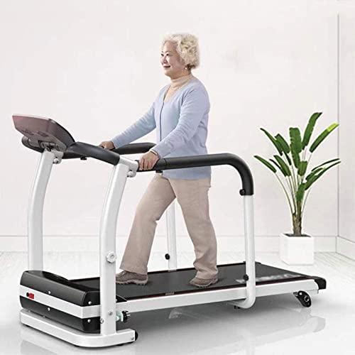 YIZHIYA Cintas de Correr, Equipo de Entrenamiento de recuperación de extremidades, Cintas de Correr motorizadas Plegables de rehabilitación para Ancianos, Motor 2.0HP 0.5-6Km/H