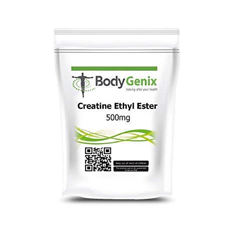 Creatine Ethyl Ester 500mg Capsule High Strength - Bodygenix UK Made (30)