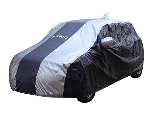 Amazon Brand - Solimo Maruti Swift UV Protection & Dustproof Car Cover (Dark Blue & Silver)