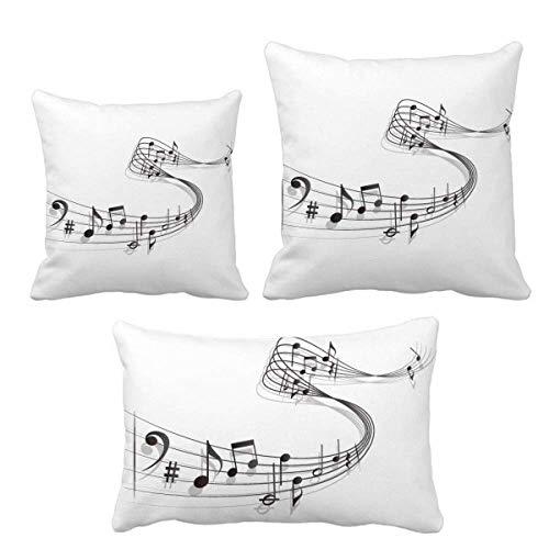 DIYthinker Song Music Score Melodious Classical Throw Pillows Set Einfügen Kissen Cover Home Sofa Dekor Geschenk