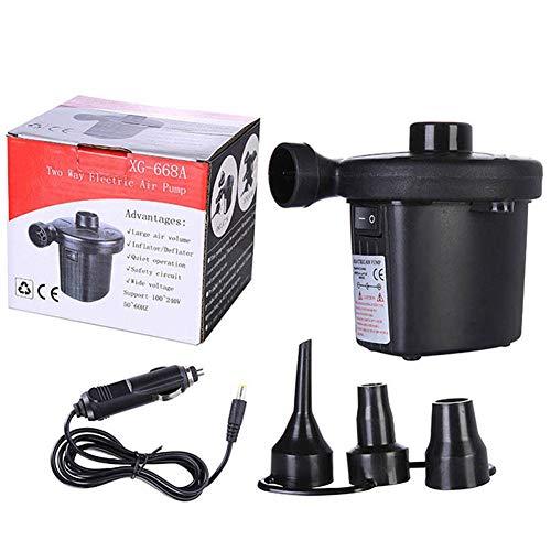 Elektrische Luftpumpe, 100-240 V, tragbar, leicht, mit 3 Düsen zum schnellen Befüllen, für aufblasbare Geräte, US-Stecker