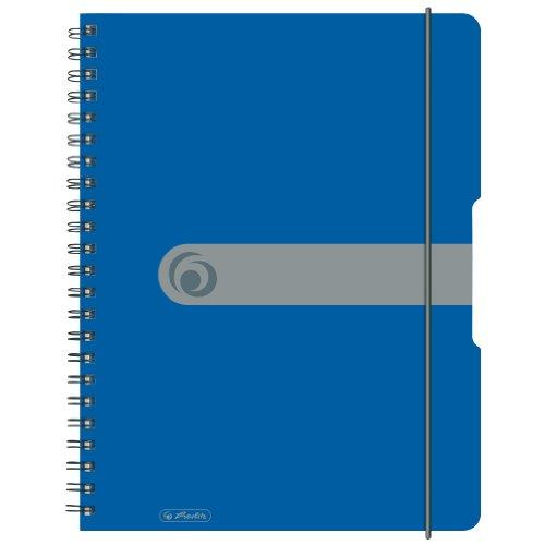 Herlitz 11293065 Spiralblock A4 to go, Holzfreies Papier, 80 Blatt, blau