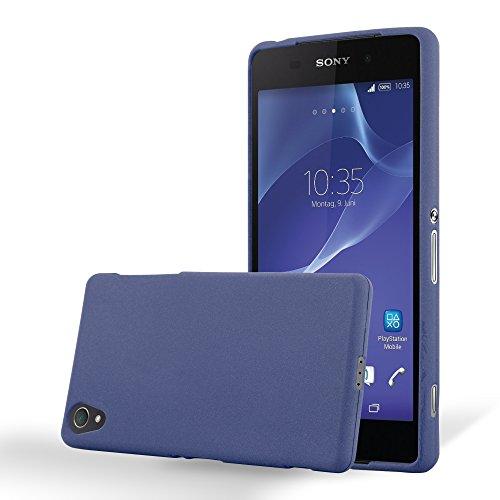 Cadorabo Funda para Sony Xperia Z1 en Frost Azul Oscuro - Cubierta Proteccíon de Silicona TPU Delgada e Flexible con Antichoque - Gel Case Cover Carcasa Ligera