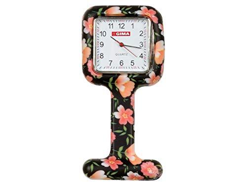 Gima ns885roses Clock for Nurses, Square, Rose Pattern
