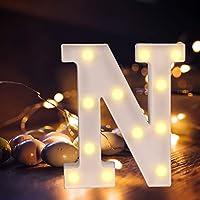 LEDレターライト ライトアップレター DIYレターランプ マーキー文字ライト ベット記号ライト 雰囲気作り 装飾ライト クリスマス 誕生日パーティー バレンタインデー カフェ 部屋 英語文字A~Z 暖かい シンボルライト 記念日