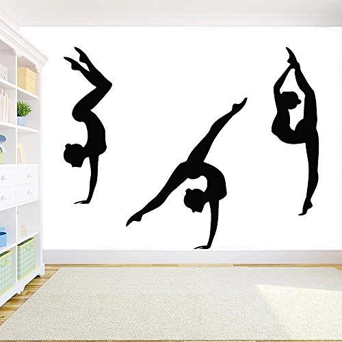 Decoración de gimnasio de pared de gimnasia un papel pintado de vinilo de pared de gimnasia rítmica deportiva para decoración de dormitorio