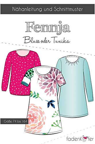 Stoffe Werning Schnittmuster Fadenkäfer Fennja Kinder Bluse oder Tunika in den Größen 74 bis 164 Papierschnittmuster