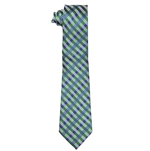 100/% Silk Extra Long Ties for Men Plaid Pattern available in 63-Inch XL and 70-Inch XXL